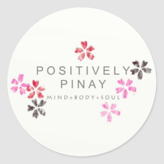 Positively Pinay - Customized Round Sticker