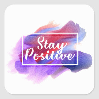 Positiveness Square Sticker