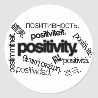 Positivity. Classic Round Sticker