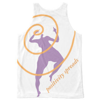 Positivity Spreads all over design shirt All-Over Print Tank Top