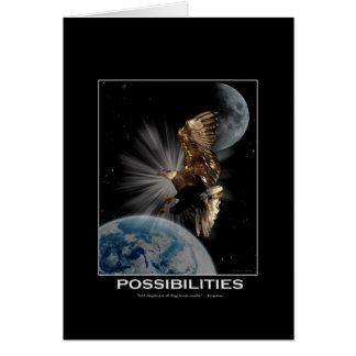 POSSIBILITIES Bald Eagle Motivational Gifts Greeting Cards