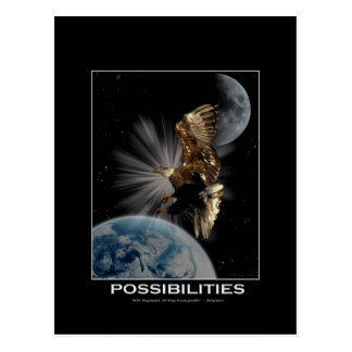 """POSSIBILITIES"" Bald Eagle Motivational Gifts Postcards"