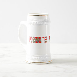 POSSIBILITIES : Wisdom Words Coach Mentor LOWPRICE Beer Stein