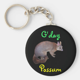 Possum Basic Round Button Key Ring