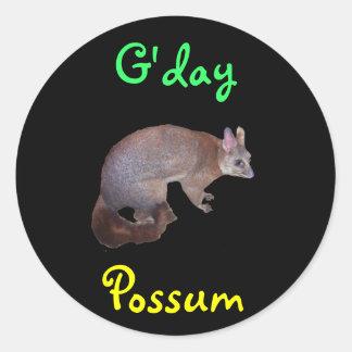 Possum Classic Round Sticker