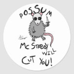 Possum McStabby Stickers