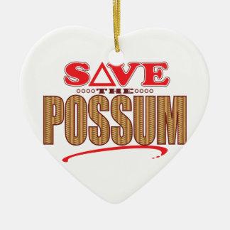 Possum Save Christmas Ornament
