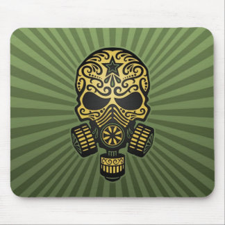 Post Apocalyptic Sugar Skull army green Mousepad