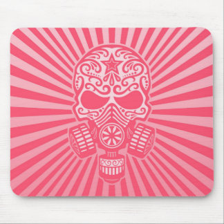 Post Apocalyptic Sugar Skull pink Mouse Pads