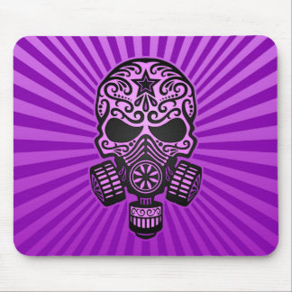 Post Apocalyptic Sugar Skull purple Mouse Pads