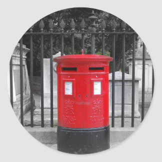 Post Box Classic Round Sticker