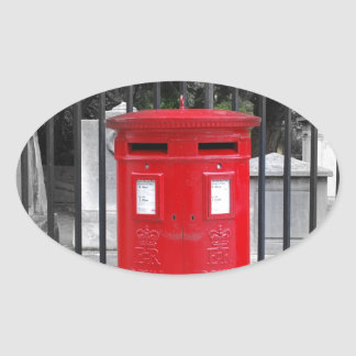 Post Box Oval Sticker