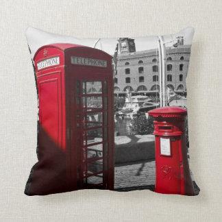 Post Box Phone box Throw Pillows