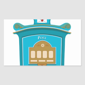 post box rectangular sticker
