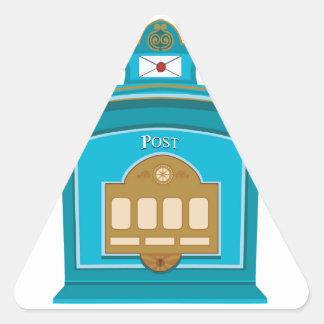 post box triangle sticker