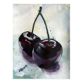 Post Card - Dark Cherries