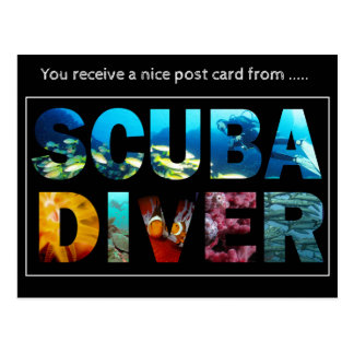Post card from scuba diver