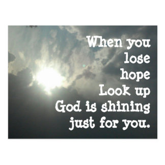POST CARD  GOD HOPE SUNSHINE LOVE