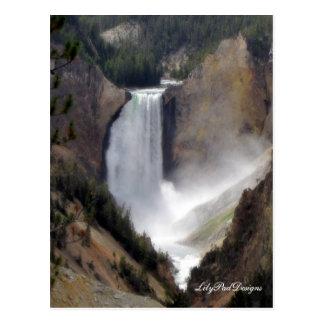 Post Card Scene Yellowstone Falls