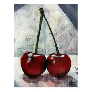 Post Card - Twin Cherries