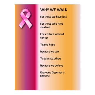 Post Card Why We Walk