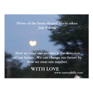 post card with heart shaped moon