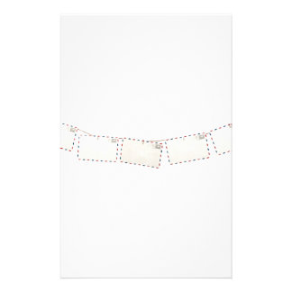 Post cards hanging on a rope customized stationery