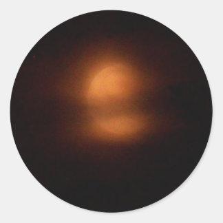 Post eclipse moon round stickers