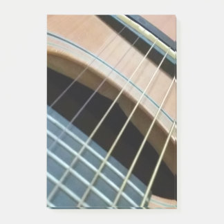 Post it Note pad with guitar image in color