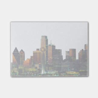 Post-it Note with Dallas Texas Skyline