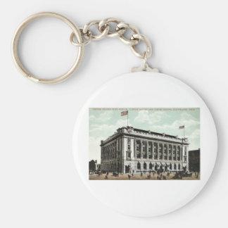 Post Office Cleveland Ohio 1910 Vintage Basic Round Button Key Ring