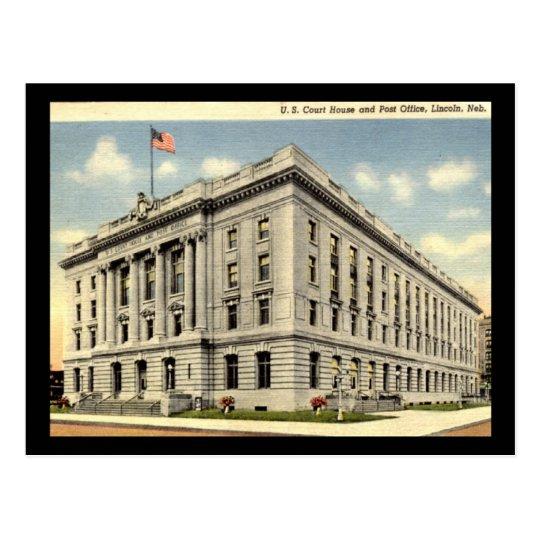 Post Office, Lincoln Nebraska Vintage Postcard
