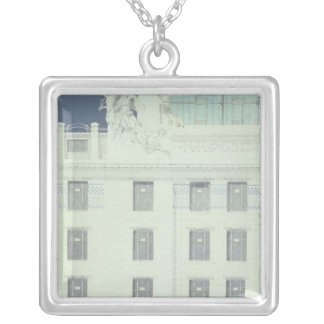Post Office Savings Bank, Vienna Silver Plated Necklace