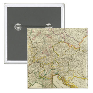 Post roads Germany, Hungary 15 Cm Square Badge