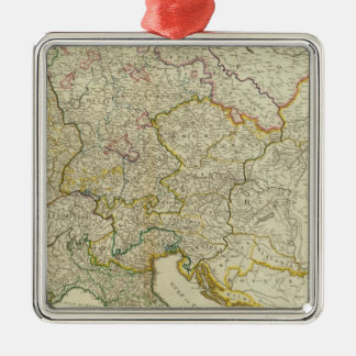 Post roads Germany, Hungary Silver-Colored Square Decoration