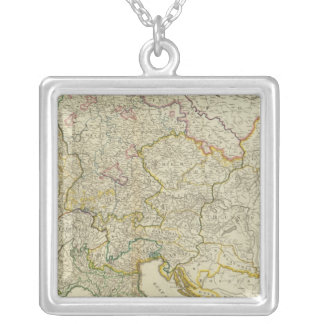 Post roads Germany, Hungary Silver Plated Necklace