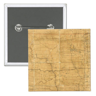 Post route map of the Territory of Dakota 15 Cm Square Badge