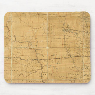 Post route map of the Territory of Dakota Mouse Mat