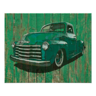 Post war Chevy pickup poster