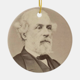 Post War Portrait of General Robert E. Lee Double-Sided Ceramic Round Christmas Ornament