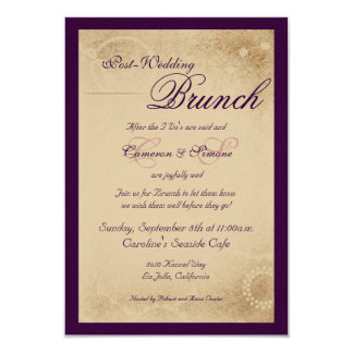 Post-Wedding Brunch -Script, Purple Card