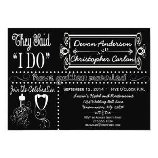 Post Wedding Chic Chalkboard Invitation