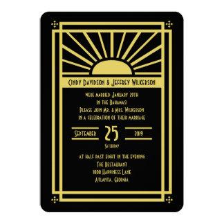 Post Wedding Reception Invitation -- Art Deco