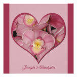 Post Wedding Reception Invitation -- Orchid Heart