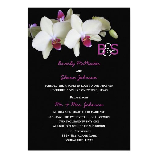 Post Wedding Reception Invitation, Orchids Invite