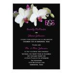 Post Wedding Reception Invitation, Orchids
