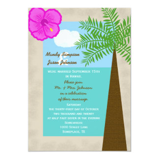 Post Wedding Reception Invitation -- Tropical