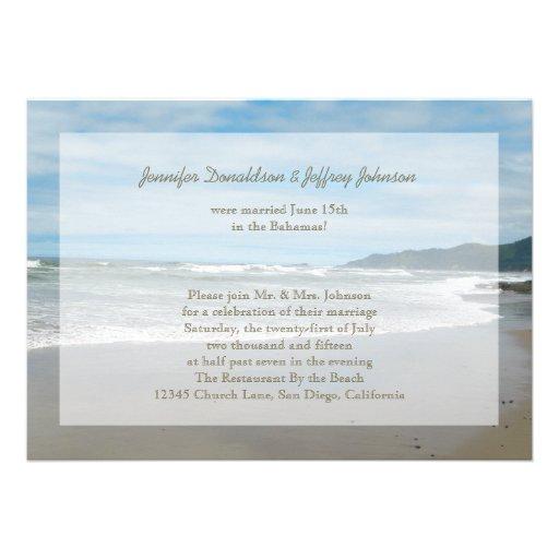 Post Wedding Reception Invitations Cards