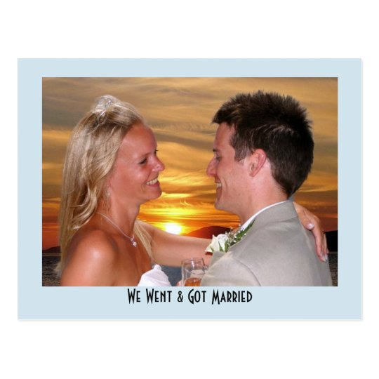 Post Wedding Reception Party Photo Personalised Postcard