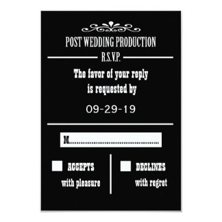 Post Wedding Reception RSVP Invitation Card
